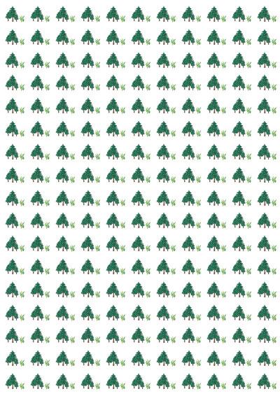Geschenkpapier-Natur-Bäume-Tanne-Gras zum selbst ausdrucken