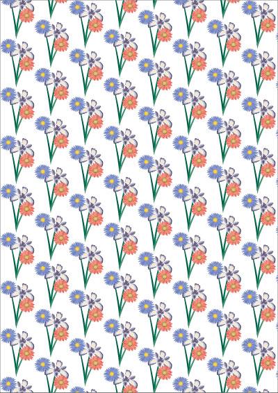 Geschenkpapier bunte Blumen zum selbst ausdrucken
