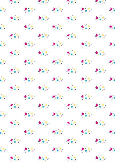 Geschenkpapier-bunte-Sterne zum selbst ausdrucken