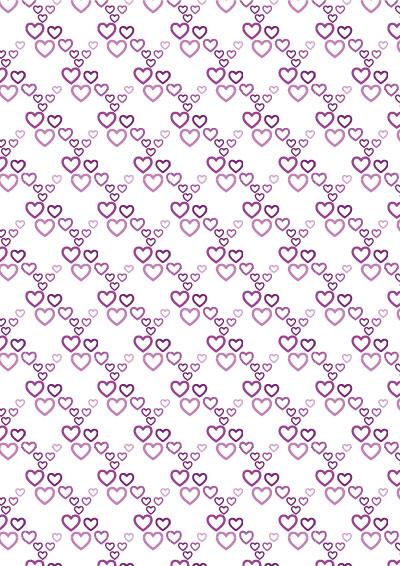 Geschenkpapier rosa-lila-Herzen-DIY-Drucken - Gratis Download