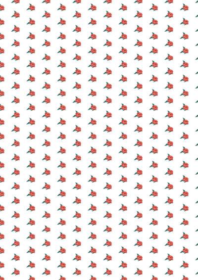 Geschenkpapier rote Rosen zum selber drucken - gratis Download