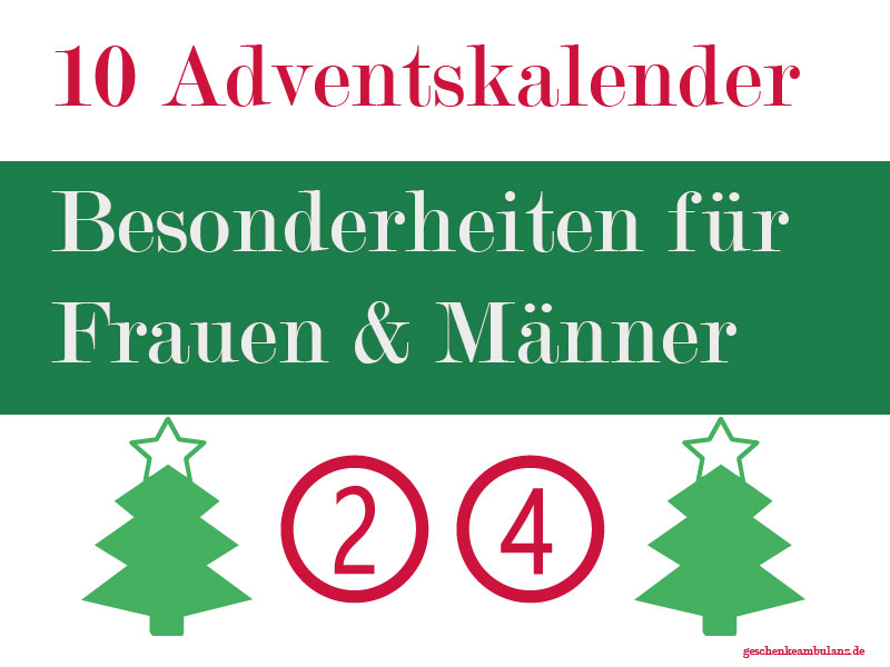 20 adventskalender f r m nner frauen paare kinder senioren tiere geschenkeambulanz. Black Bedroom Furniture Sets. Home Design Ideas