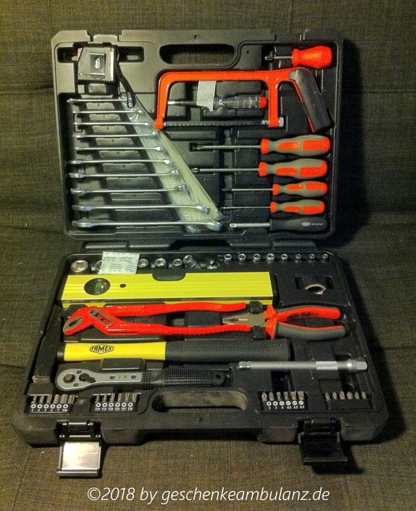 Famex Werkzeugkoffer-145-FX-55 - Geschenk für Hausgebrauch. Im Test
