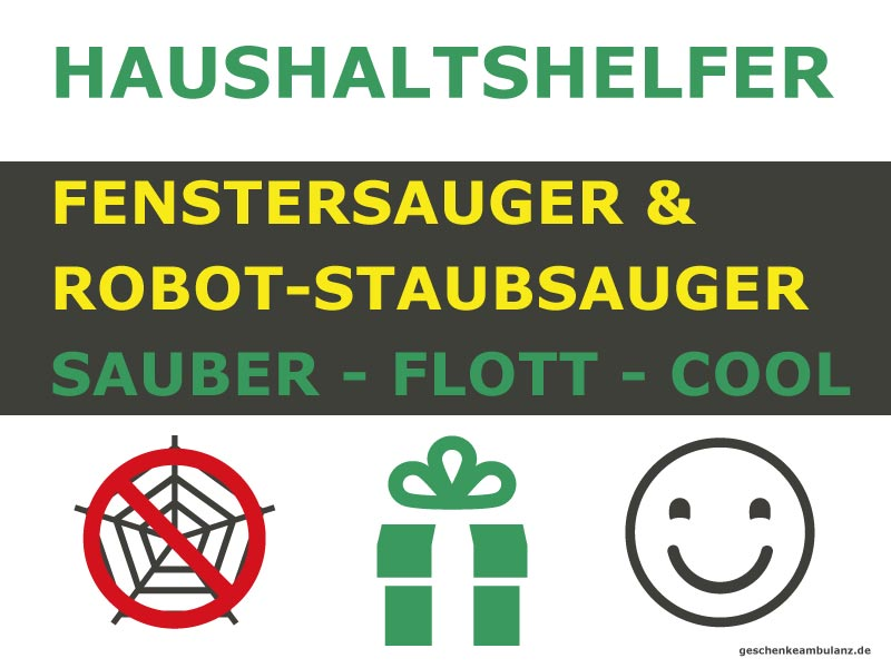 putzroboter fenstersauger staubsaugroboter haushaltshilfe kaufen geschenkeambulanz. Black Bedroom Furniture Sets. Home Design Ideas