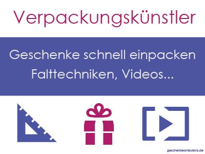 Geschenke verpacken Anleitung Video