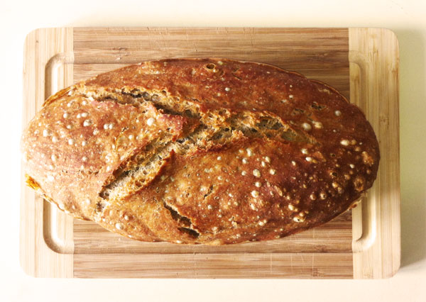 Brot ohne Kneten mit Hilfe der Silikon Brotbackschale