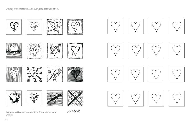 Spannende Muster aus einfachen Herzen.