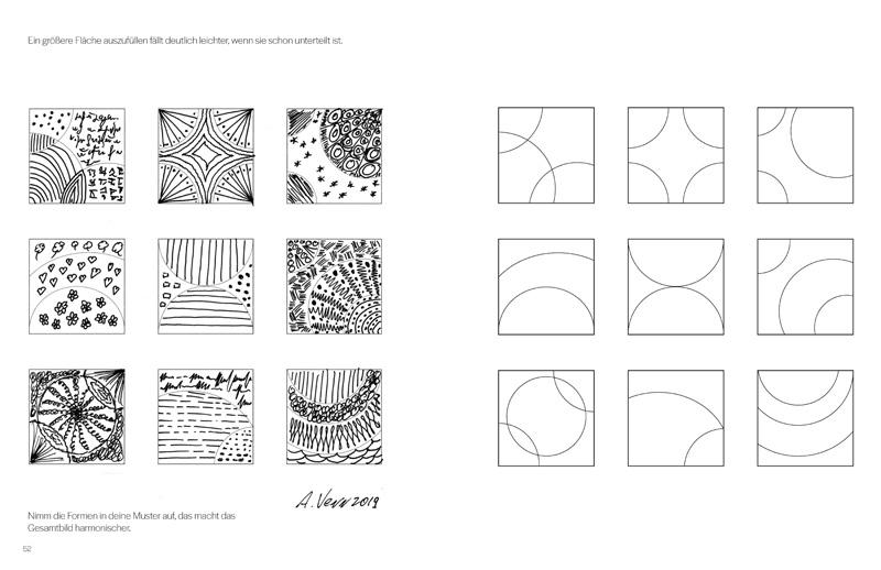 Muster zeichnen wie im Zentangle Stil
