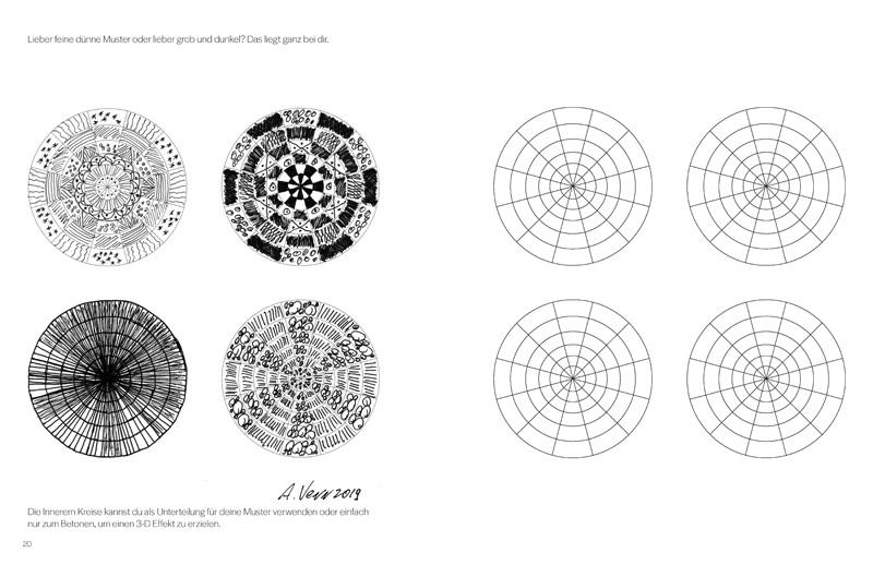 Kreise mit Mustern ausfüllen