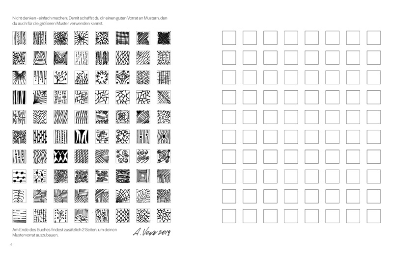 """Viele kleine Muster zeichnen. Jederzeit einfach drauflos """"Mustern"""""""