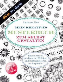 Muster selbst zeichnen mit Tuschestift - Blick ins Buch PDF