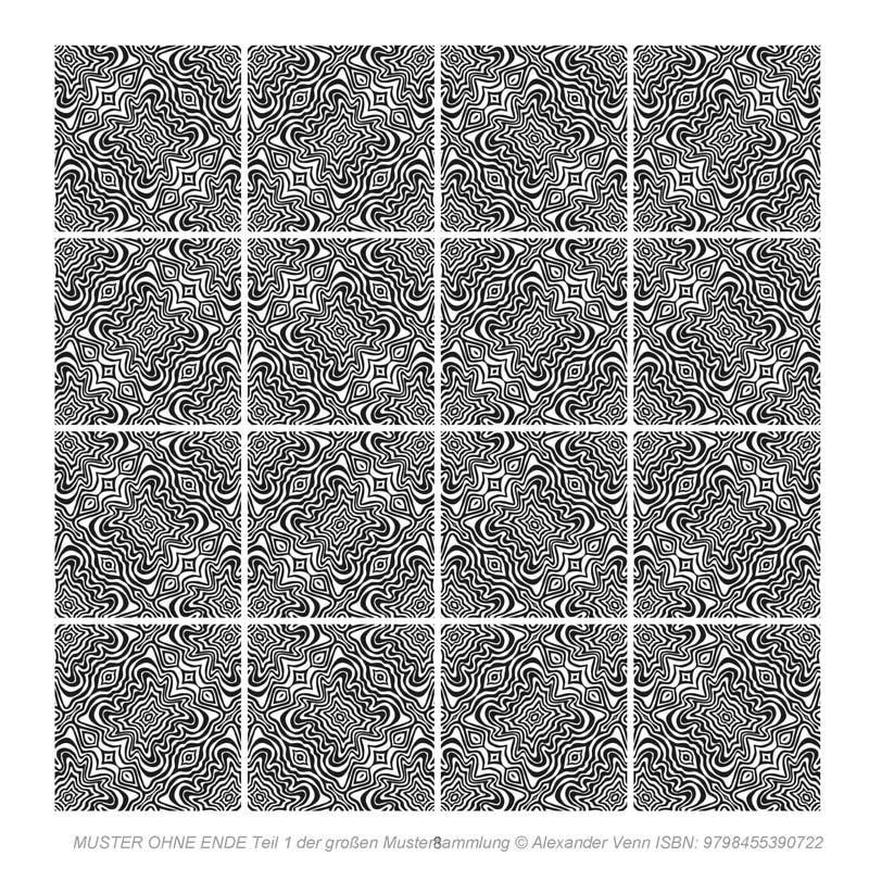Zebramuster Fliesenbild